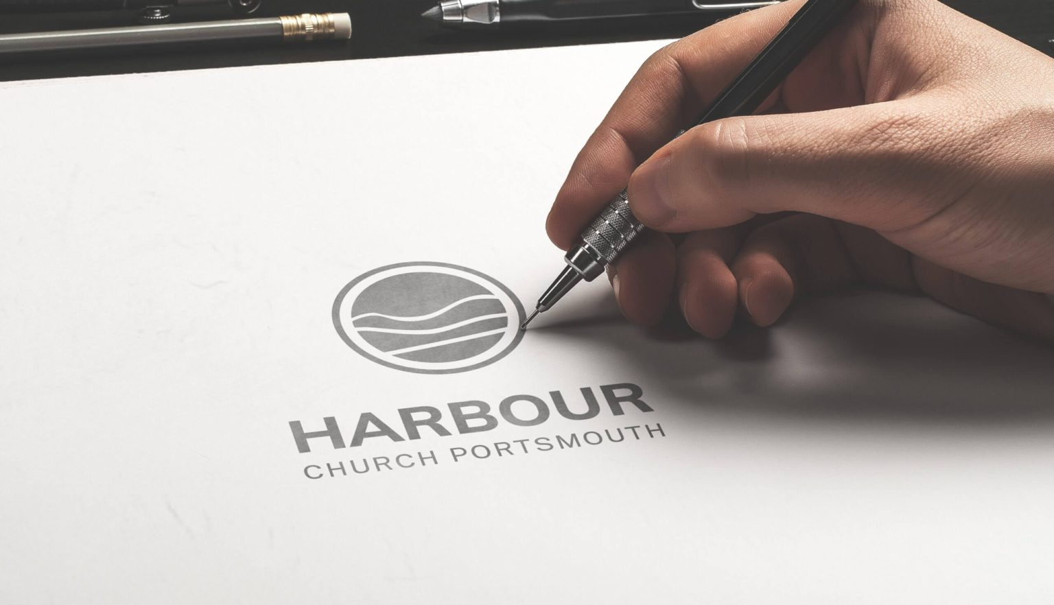 Logo sketch process | Logo Design Bracknell, Berkshire