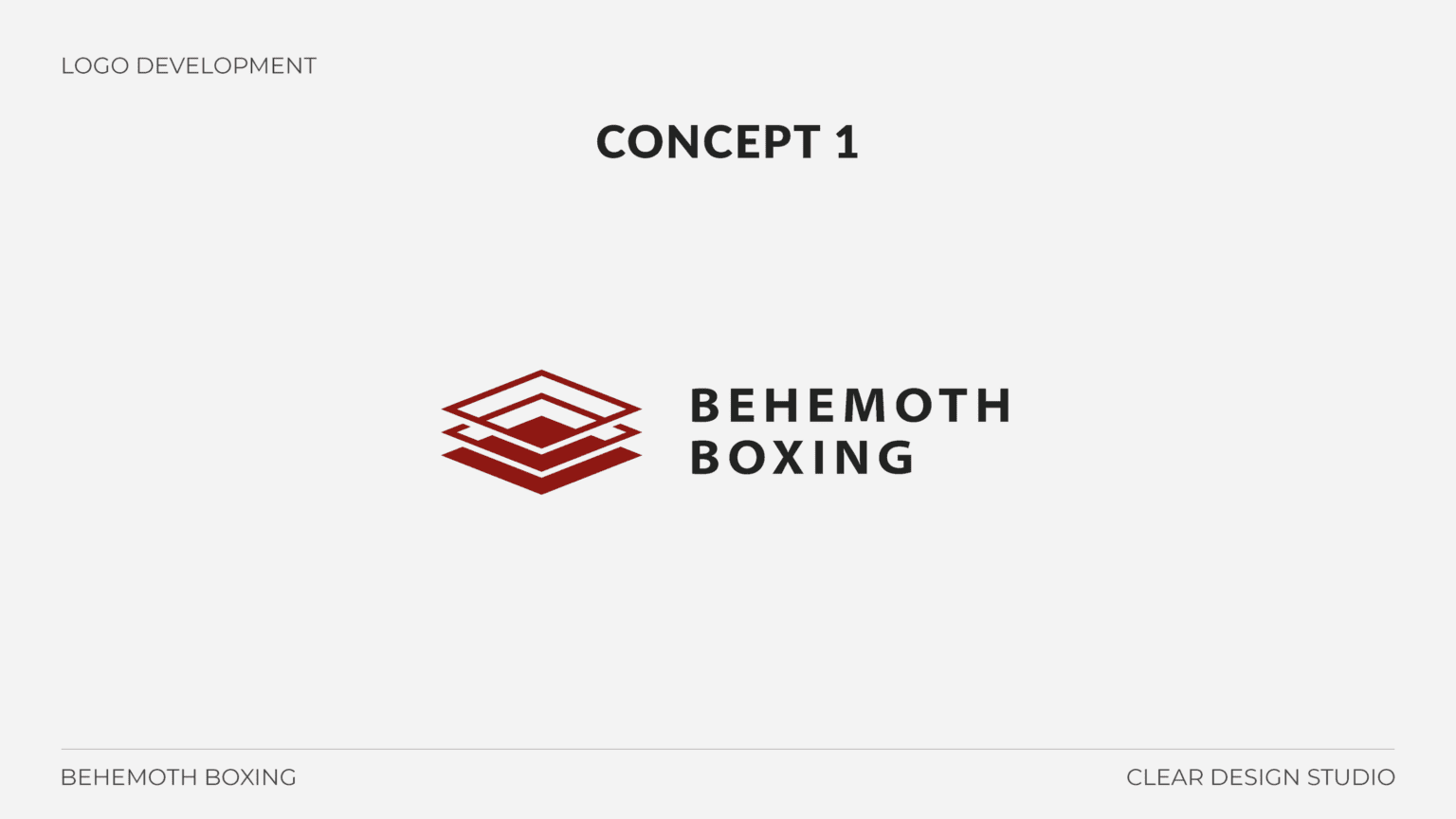Behemoth Boxing Logo Design Concept 1
