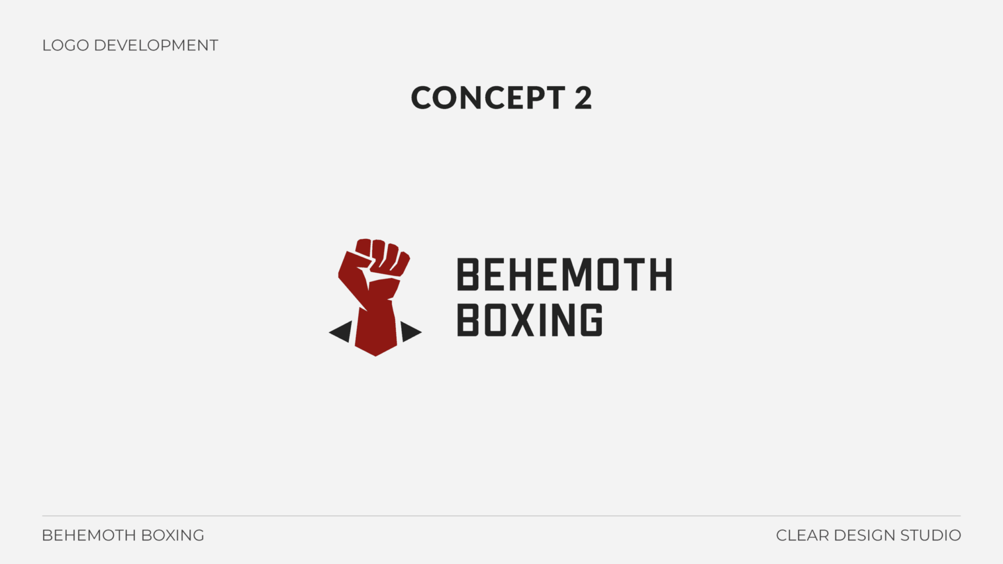 Behemoth Boxing Logo Design Concept 2