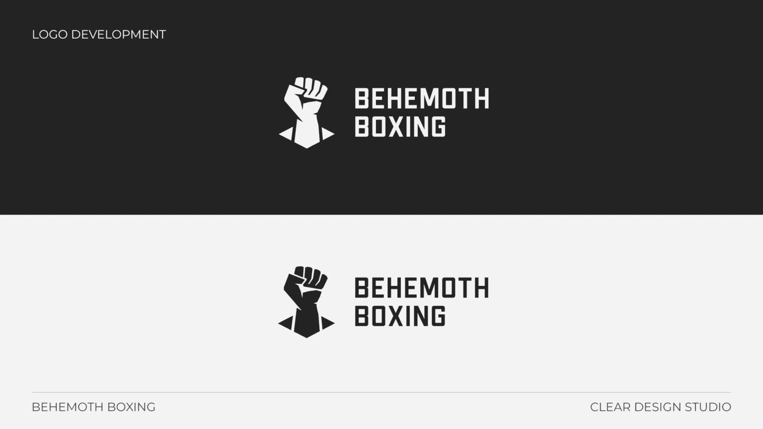 Behemoth Boxing Logo Design Portfolio 6