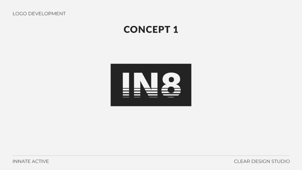 IN8 Active Logo Design Concept 1