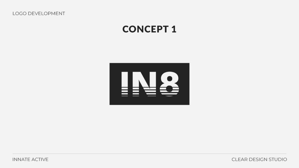 IN8 Active Logo Design Concept 1