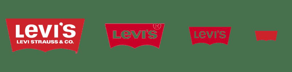 Levis scalable logo design