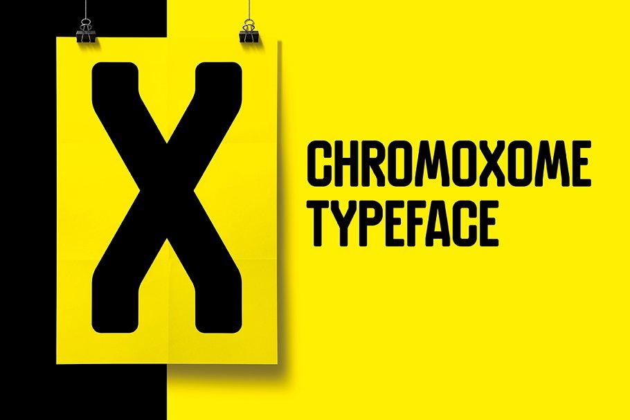 Chromoxome font