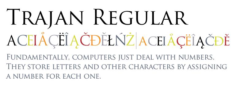 Trajan font