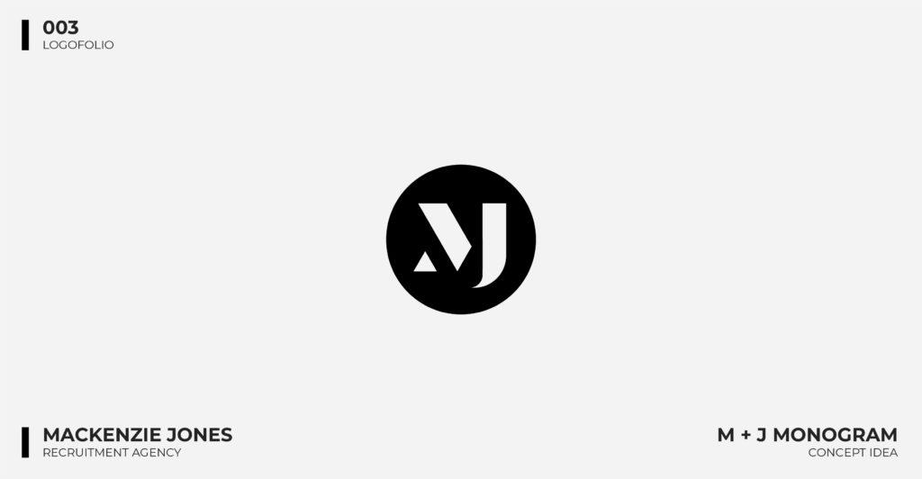 Logo Design Portfolio - Mackenzie Jones Recruitment Logo