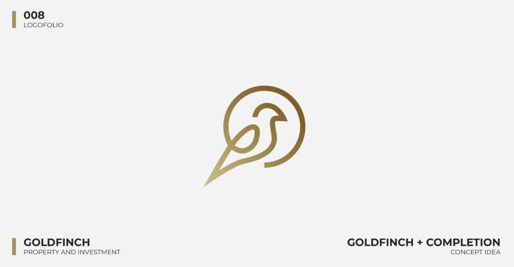 Logo Design Portfolio - Goldfinch Property Logo