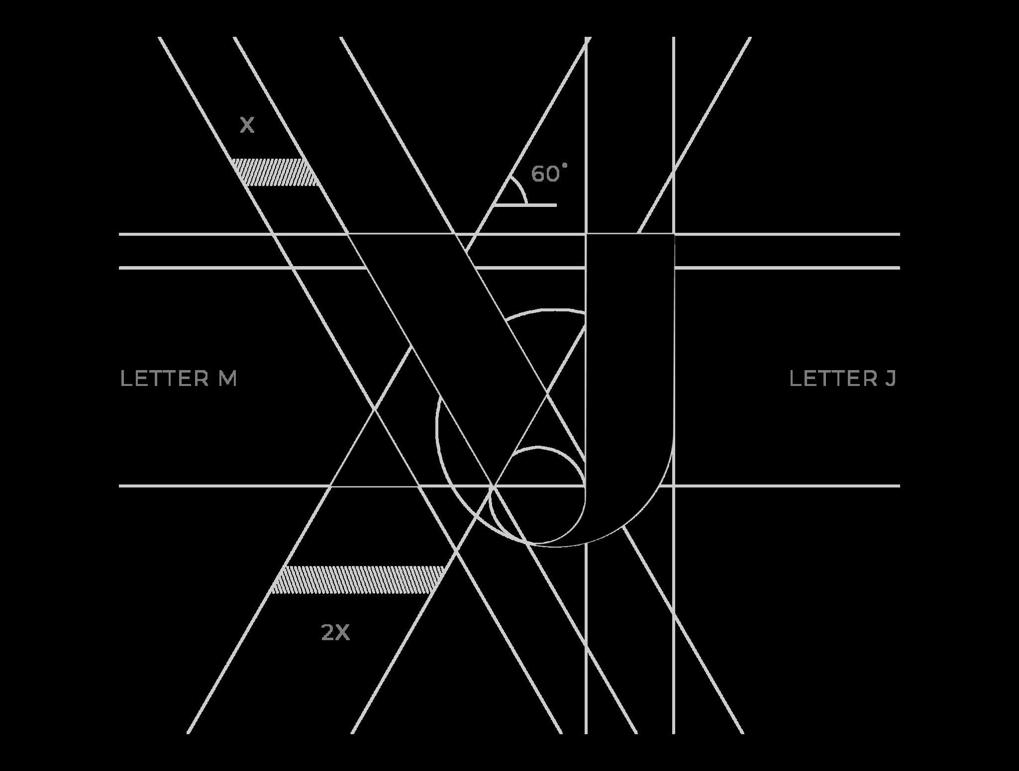 Gridded logo design