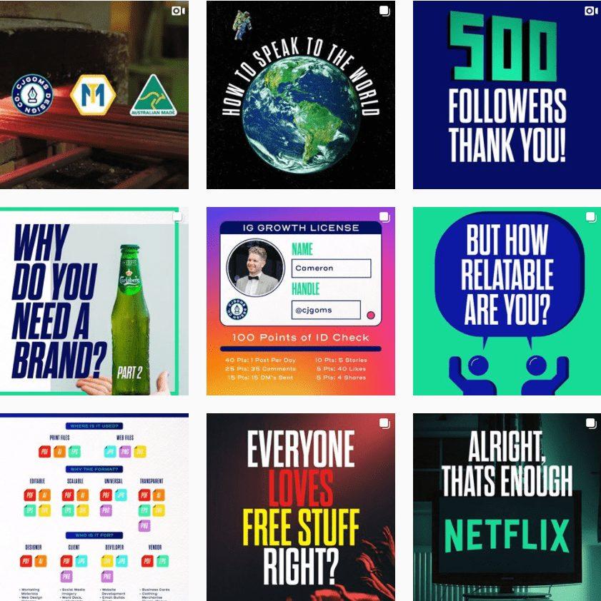 Cam Gomersall - Brand Identity Designer | Instagram Profile