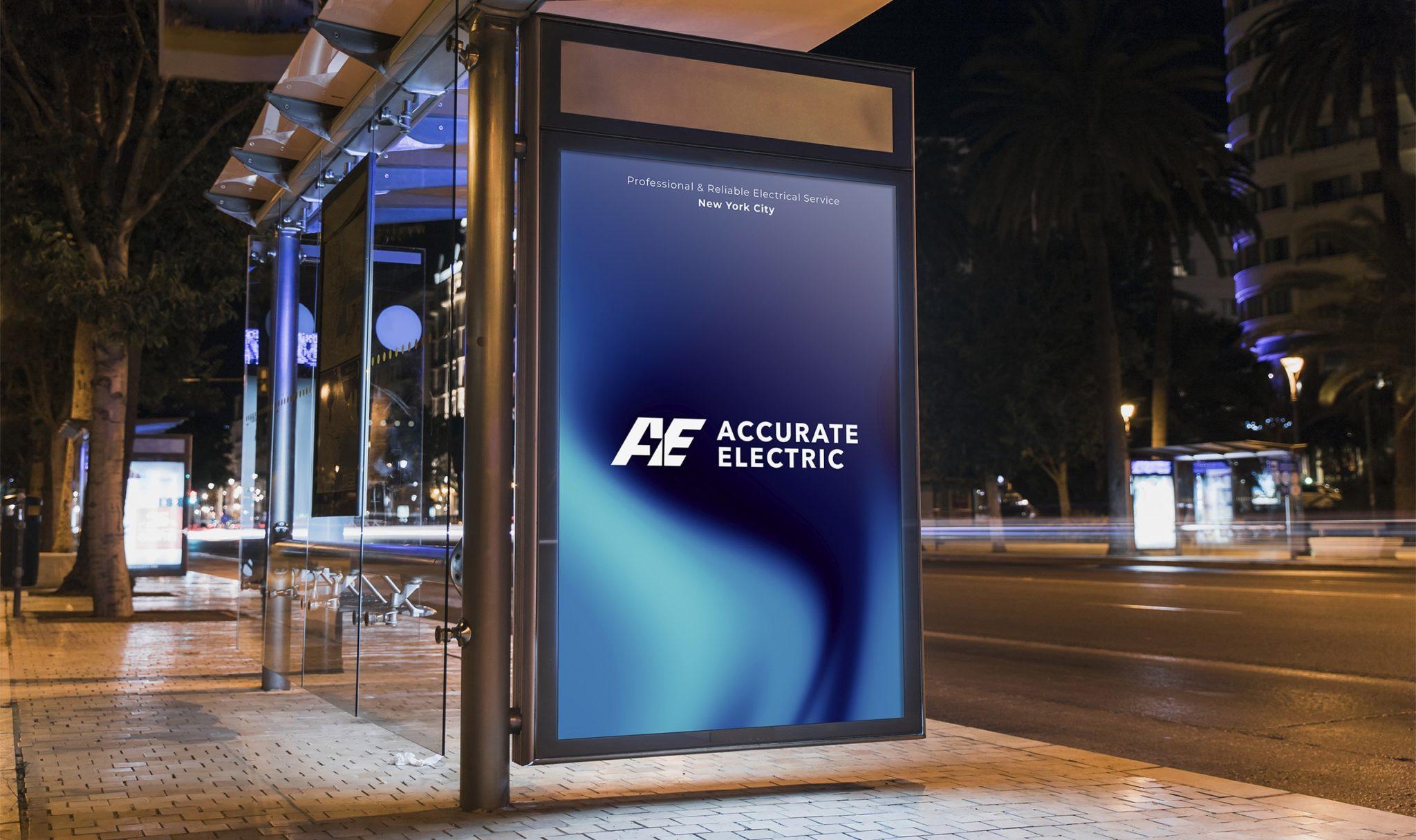 Accurate Electric Brand Identity Billboard