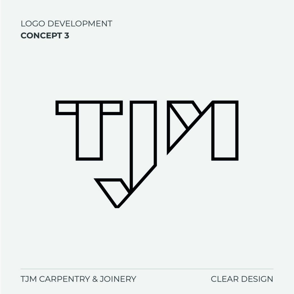 TJM Carpentry Logo Concept 3