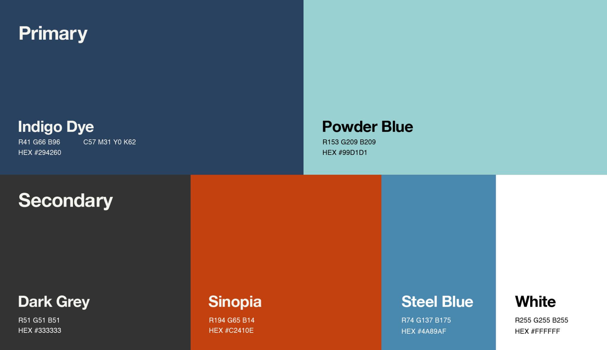 Video Alliance Colour scheme