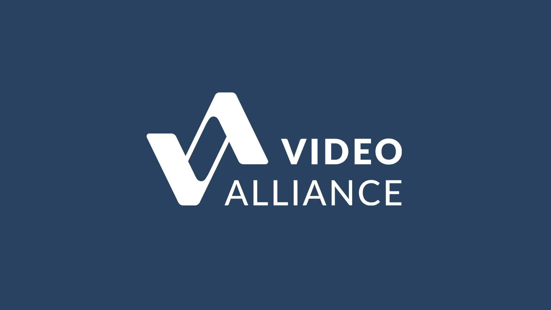 Video Alliance Full Logo Design