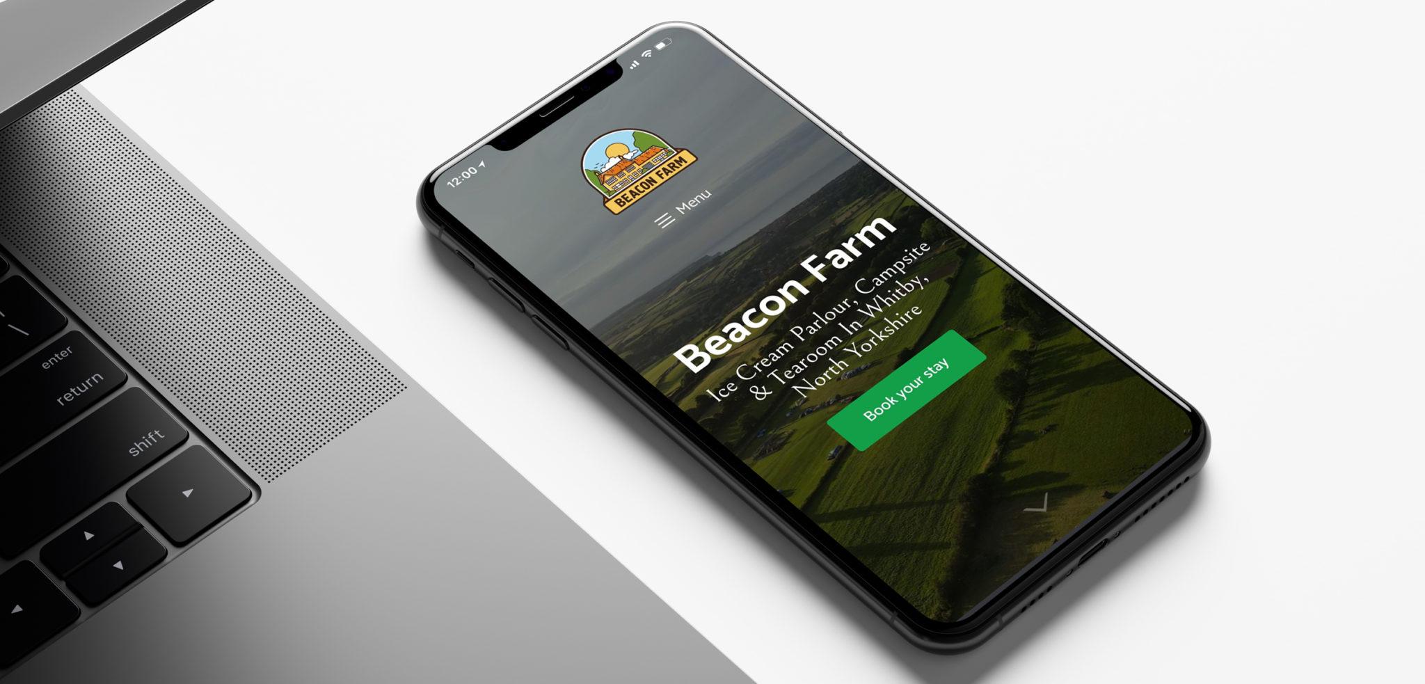 Beacon Farm Website Design on Mobile | Clear Design