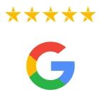 Five star Google rating | Clear design