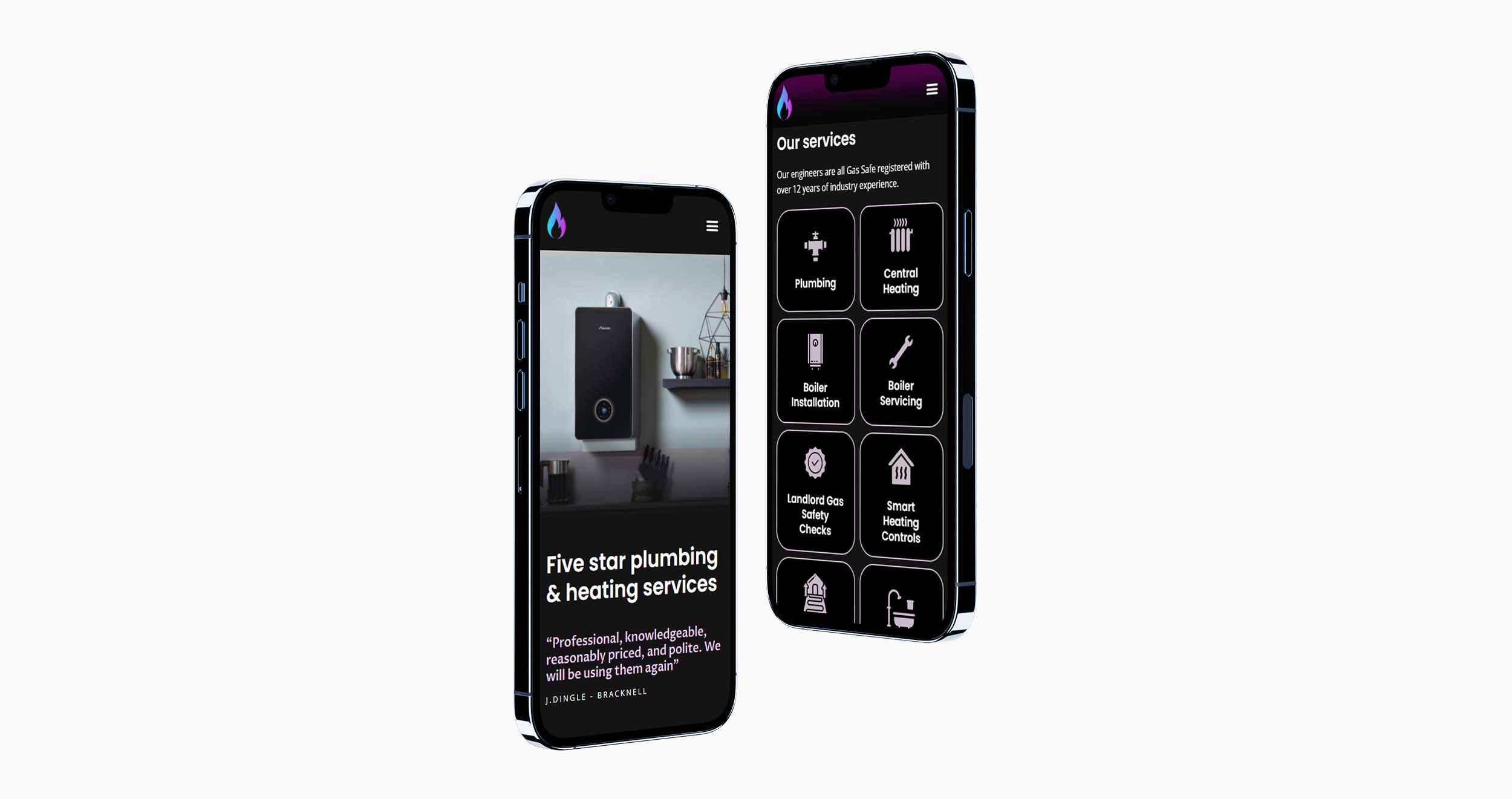 SJW Plumbing Website Design on Mobile | Clear Design