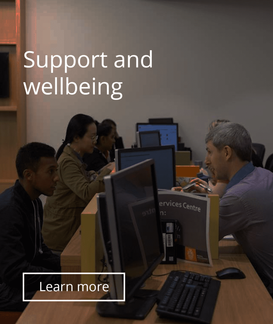 Support and wellbeing CTA