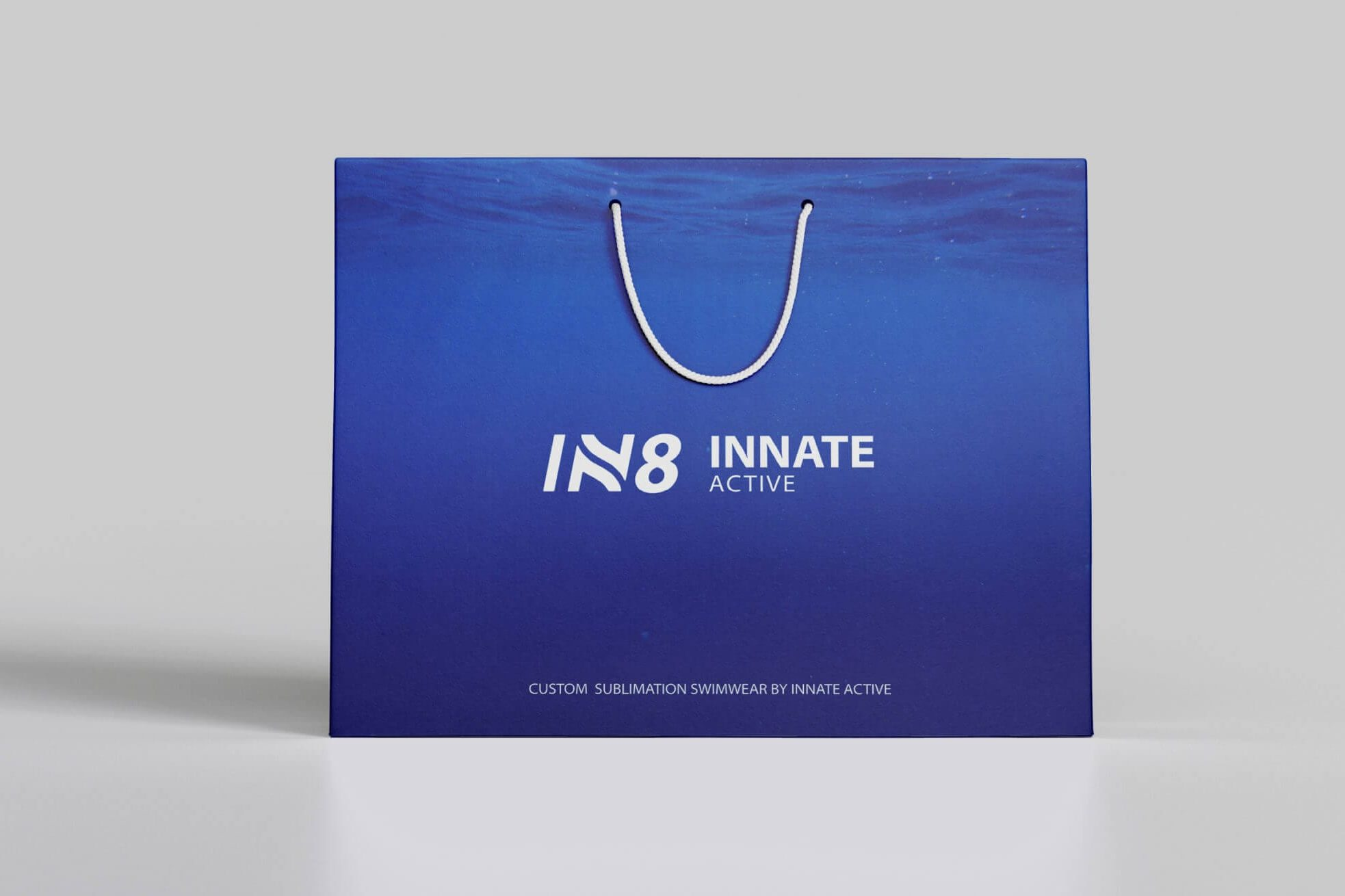 IN8 Active Shopping Bag | IN8 Active logo design