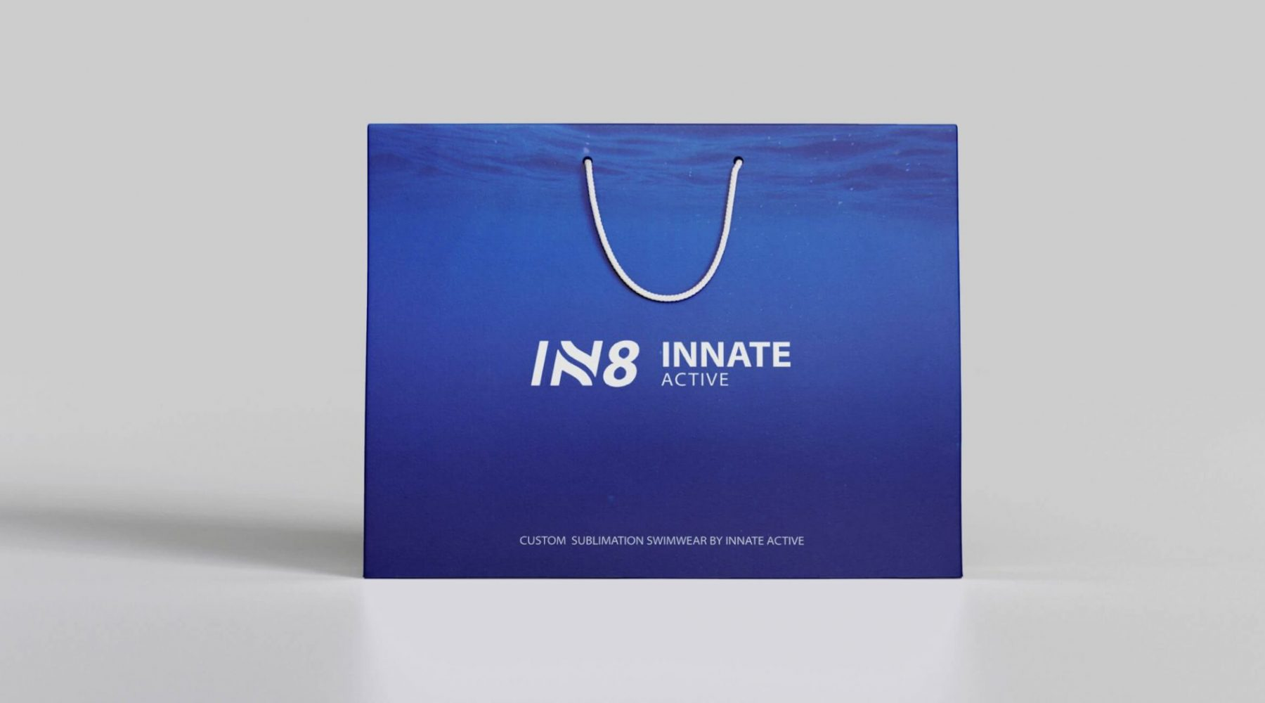 IN8 Active Shopping Bag   IN8 Active logo design
