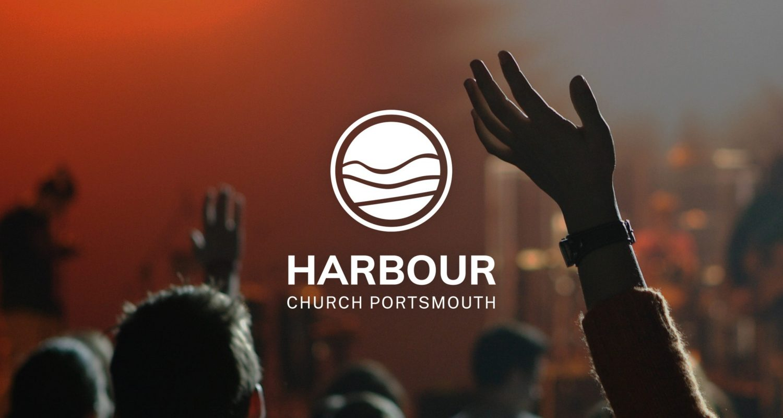 White, minimal logo design for Harbour Church Portsmouth | Logo Design Berkshire