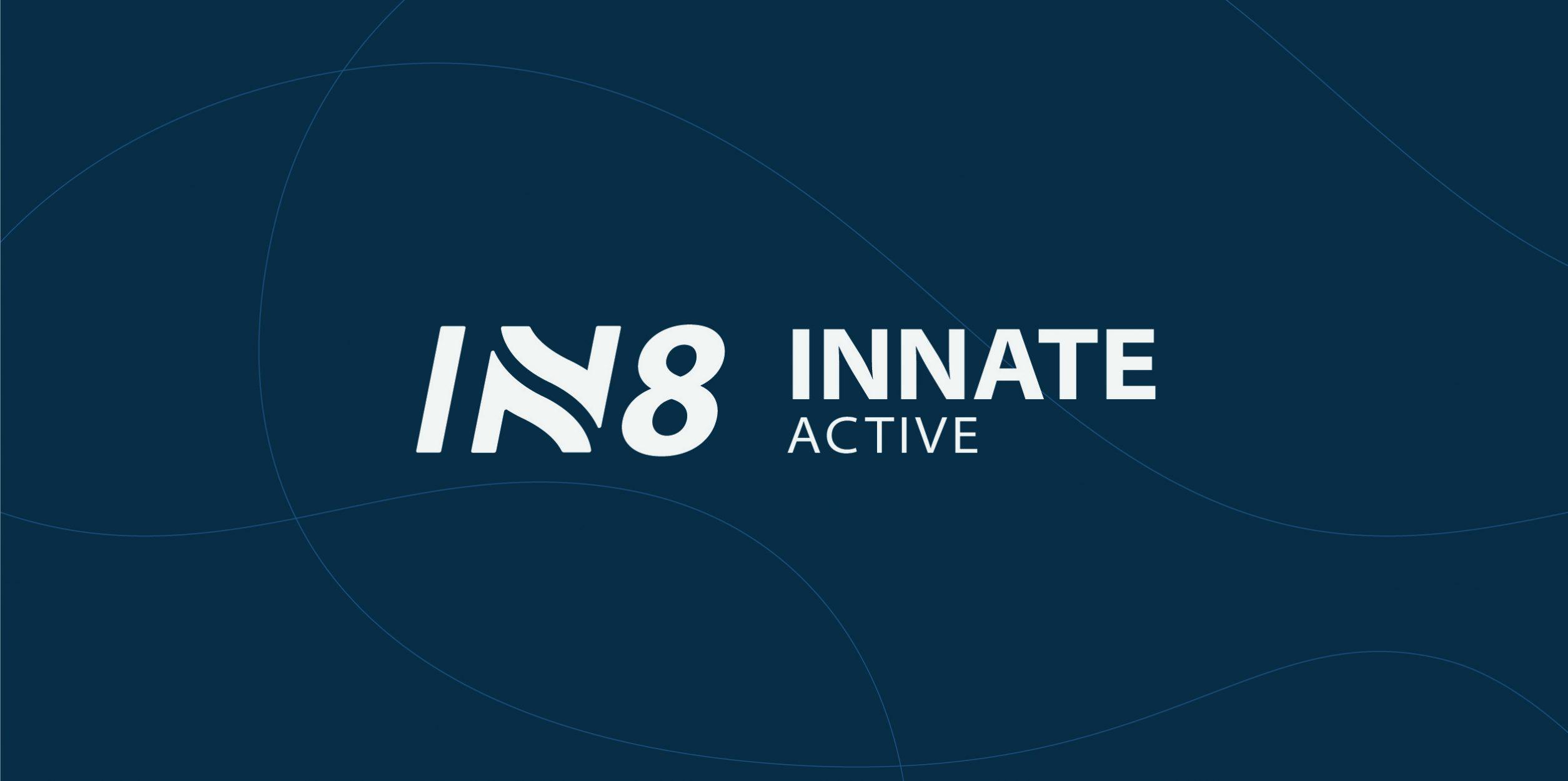 IN8 Active Logo Design Lockup