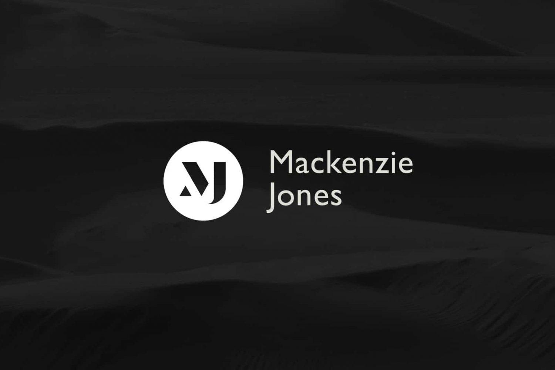 Mackenzie Jones white logo design