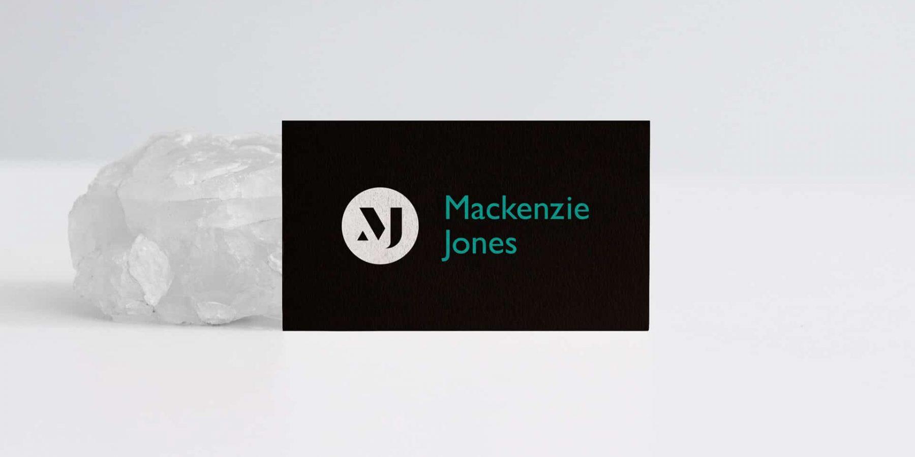 Mackenzie Jones business card design | Business card design Berkshire
