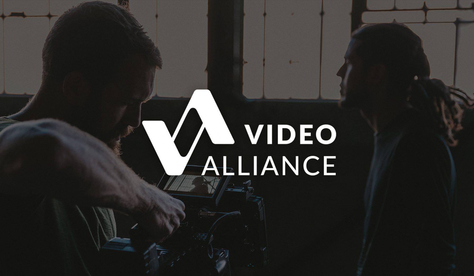 Video Alliance Full Logo | Videography Logo Design