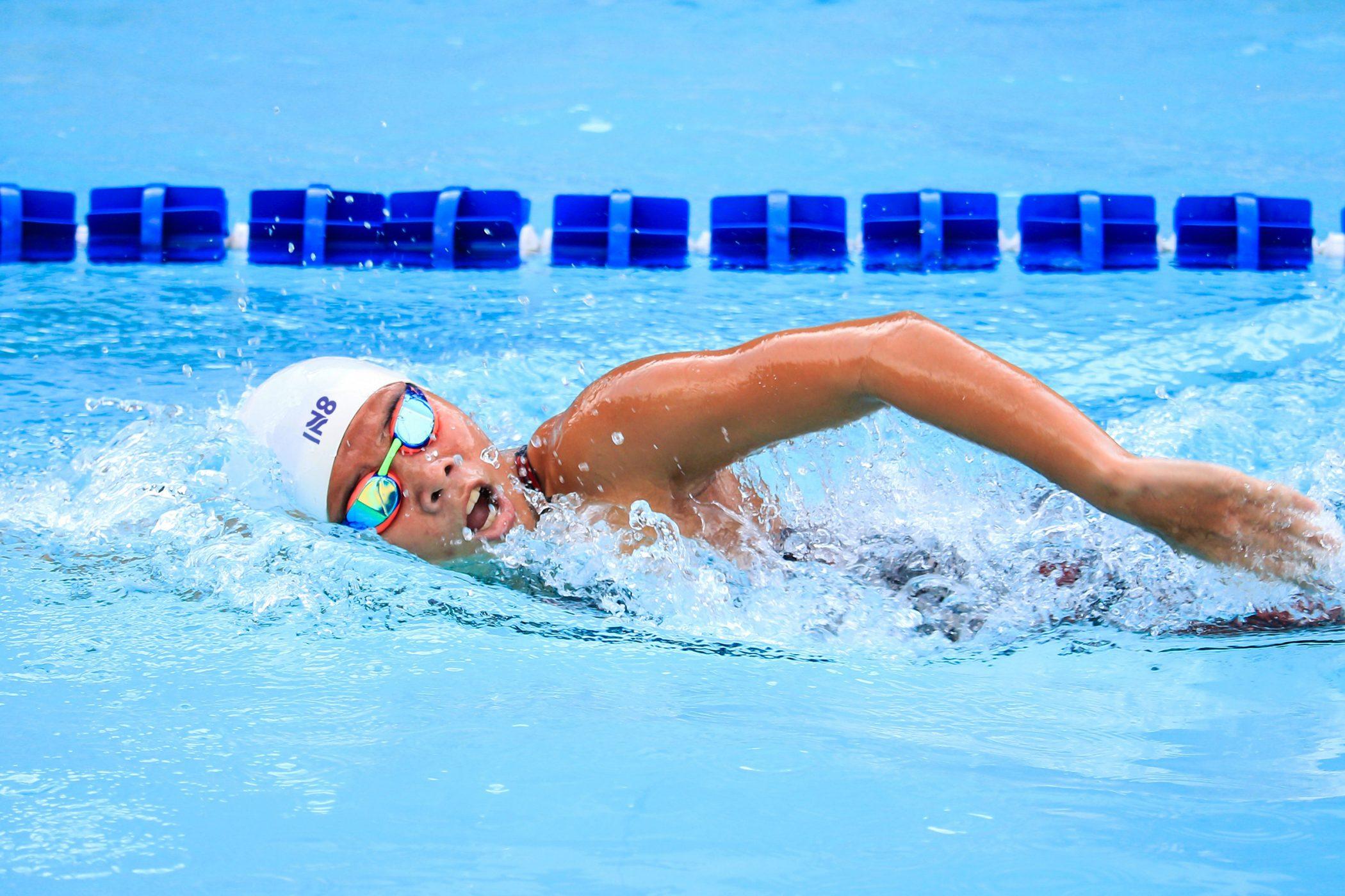 Innate Active Logo on swim cap